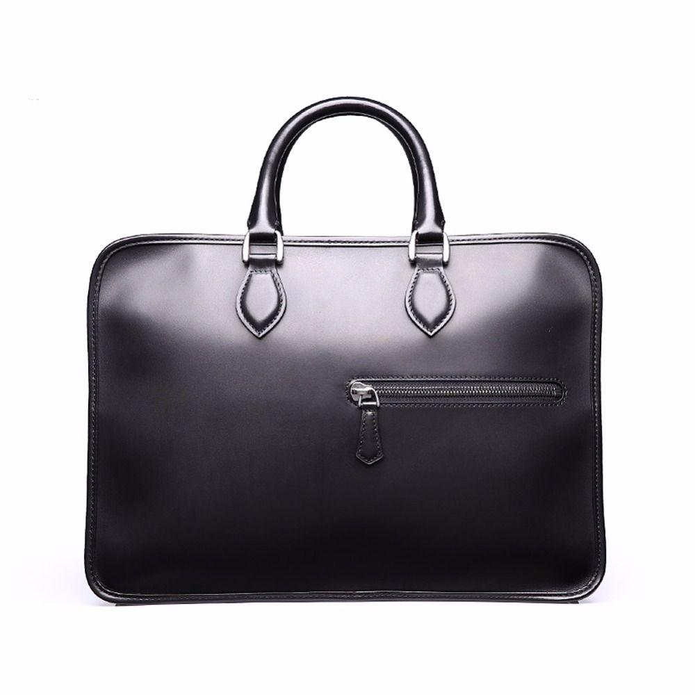 TERSE Precio al por mayor Hombres Business Briefcase Handmade Venezin Cow Leather Handbag Shoulder Bag 4 Color en Stock 361
