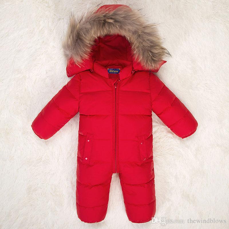 Inverno 2018 Tute per bambini Tute per neonato Tute per neonato Infantile Completo per neonato Pagliaccetto caldo per bambina Completo per bambina