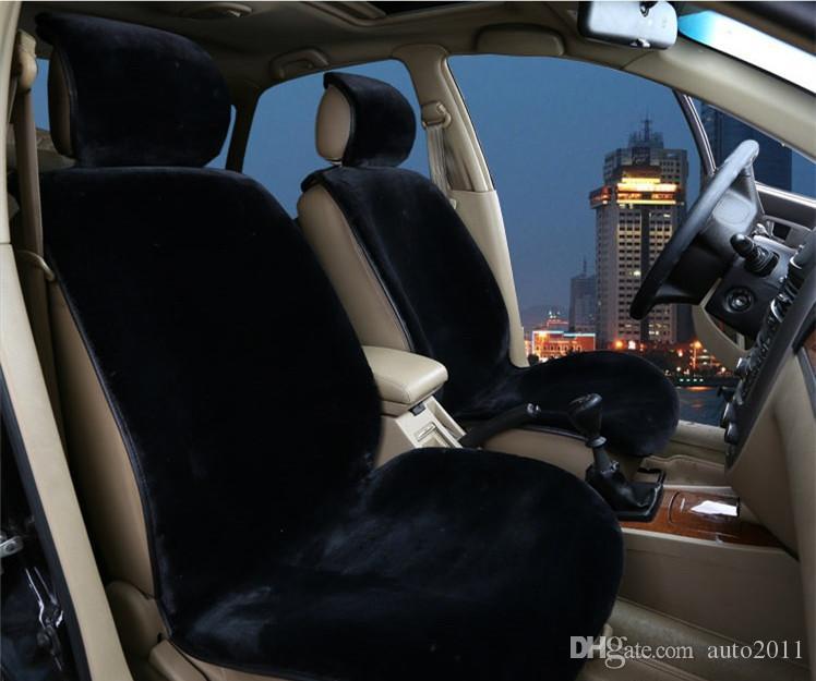 Luxury Car Front Seat Cushion Plush Wool ABB Cloth Winter Warm Seat Cushion 1 pc Car Seat Protector