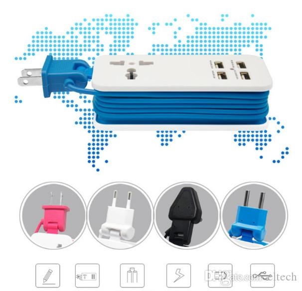 4 Port USB 2.0 Splitter Switch with Micro USB Charging Port for iMac Computer Laptop Accessories OTG HUB USB