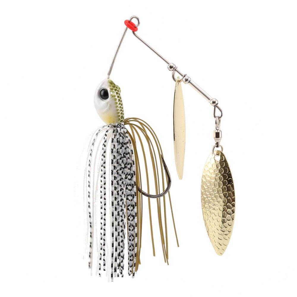 wholesale P25 Spinnerbait 10g Fishing Lure 5 PCS/Lot Wobblers Metal Spoon Jig Lure Buzz bait Artificial Baits Hard Bait