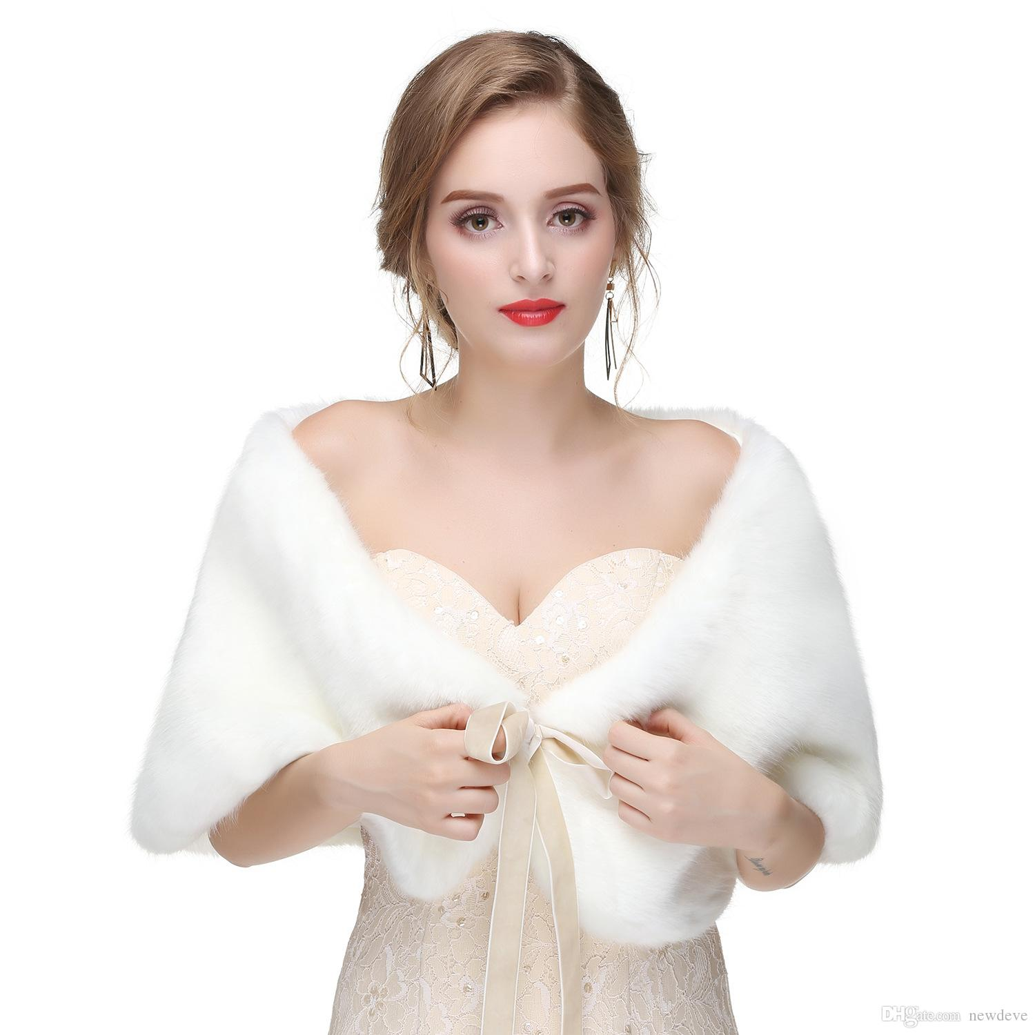 2019 Pink 2018 Cheap Off The Shoulder Bolero Jacket Fur Bridal Shrug Bride Wraps Wedding Dress Accessories Shawl From Newdeve 29 48 Dhgate Com