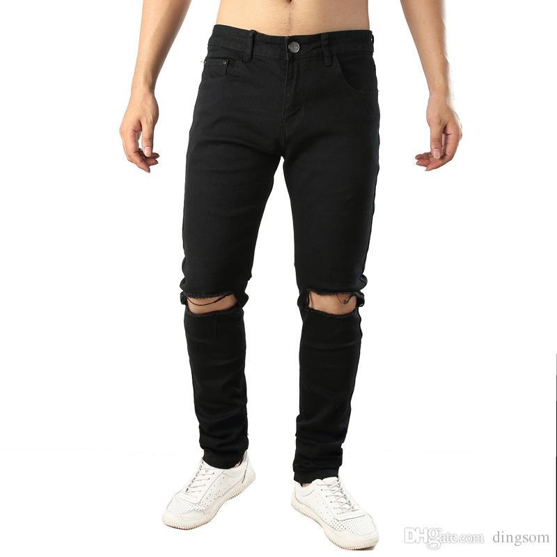 pantalon homme jean noir