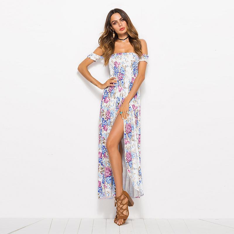 Neuer Modetrend, Freizeit, weich, bequem, atmungsaktiv, hochwertige klassische retro große unregelmäßige Kleid 08536
