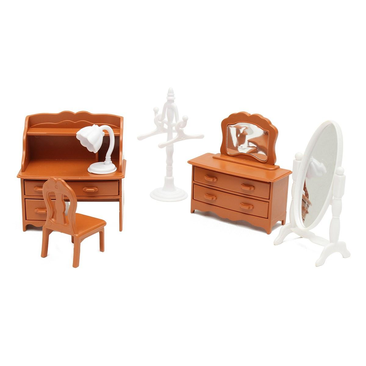 Miniature Living Room Dressing Table Furniture Sets For Mini Children Dollhouse Home Decor Kids Toy Doll House Toys Gift Victorian Dollhouses