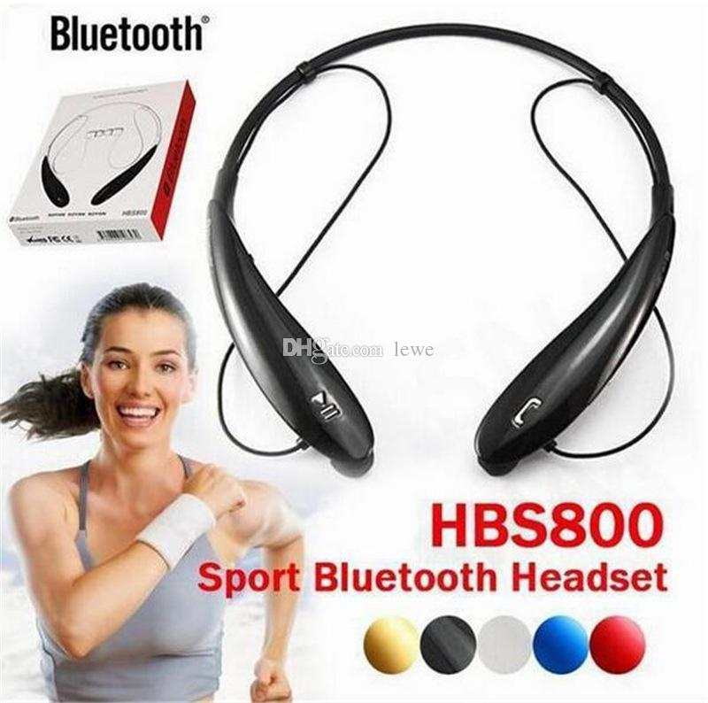 For HBS 800 Bluetooth Headphones Wireless Bluetooth Earphone sport bluetooth 4.0 Earphone Handsfree in-ear headphones No logo With Box