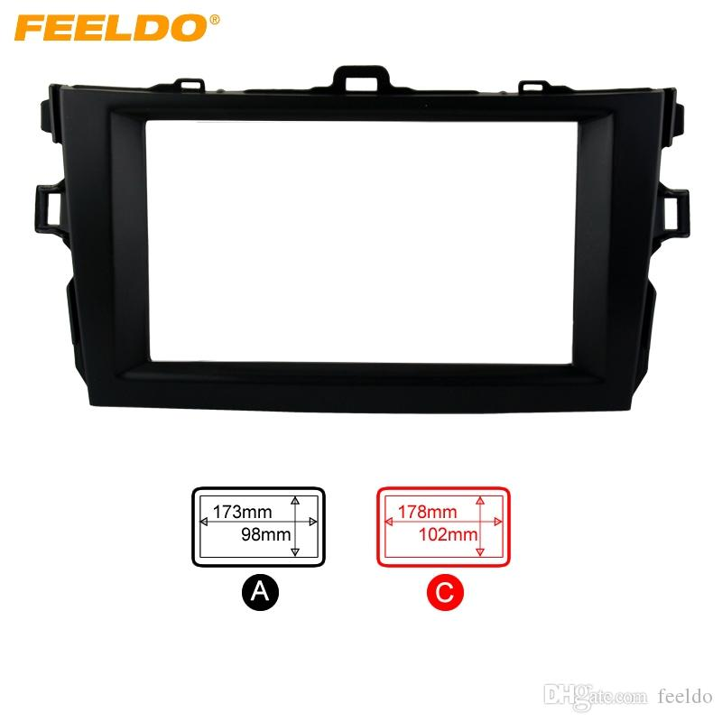 FEELDO Black 2DIN Car Refitting Radio Stereo DVD Frame Fascia Dash Panel Installation Kits For Toyota Corolla(08~10) #2684