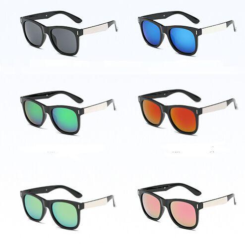 Marka Yeni Yaz Erkek Plaj Güneş Gözlüğü Cam Lensler Bisiklet Gözlük Kadın Bisiklet Cam Sürüş Güneş Gözlüğü 8 Renkler Ucuz Fiyat Ücretsiz Kargo