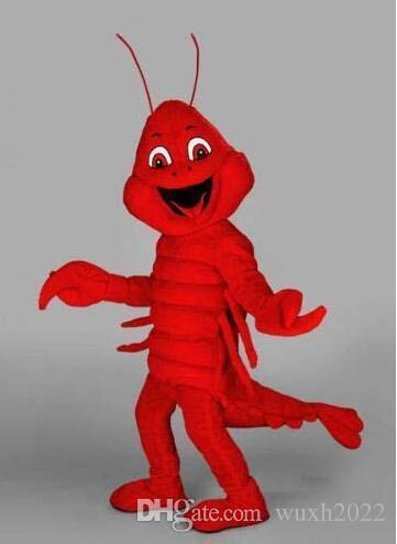 La nuova mascotte su misura dell'aragosta rossa di Halloween costumes i costumi di Halloween per il vestito operato da festival di costume della mascotte animale degli adulti trasporto libero