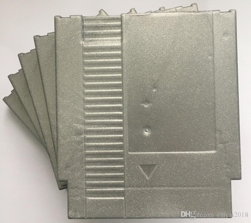 Sparkle Gray color 72 Pins Game Cartridge Replacement Plastic Shell For NES Console