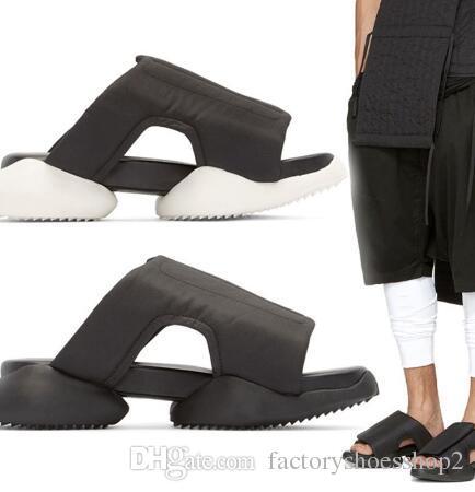 2018 moda unisex sandalias casuales zapatos de los hombres de la pista de moda de verano negro cómodo extrañas zapatillas de plataforma zapatos de playa hombre