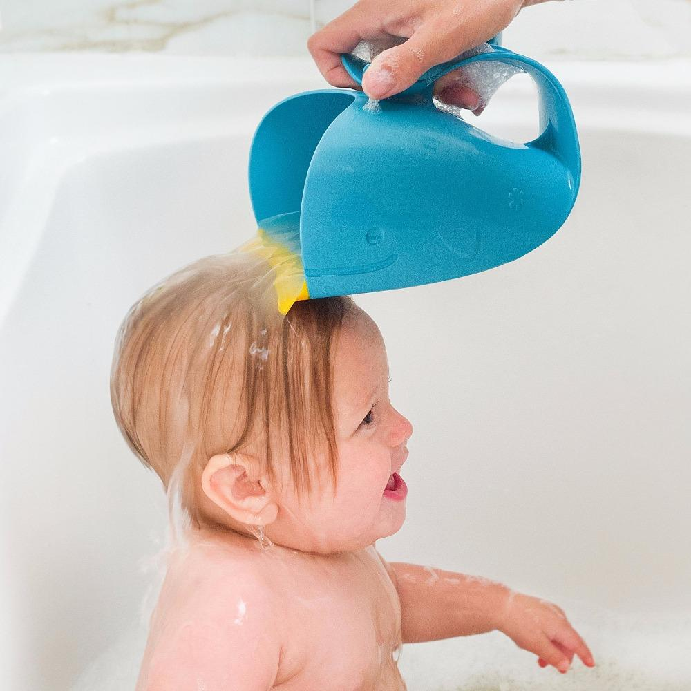 New-Baby-Bath-Visor-Bath-Cups-Baby-Shampoo-Cup-Children-Bathe-Bathing-Bailer-Baby-Shower-Spoons (3)