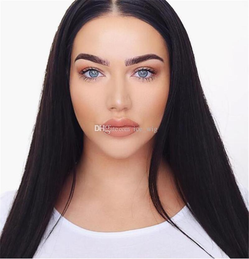 Glueless Silk Top Full Lace Wigs Silk Straight Brazilian Virgin Hair Full Lace Front Human Hair Wigs 4.5*5 Silk Base Lace Wigs
