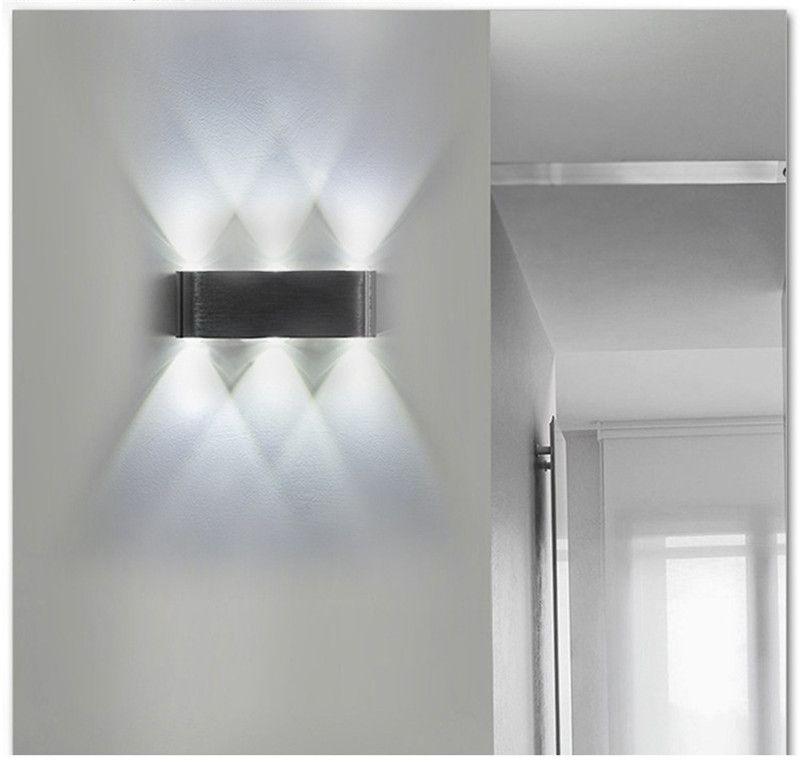 Yukarı ve aşağı Led duvar lambası, modern minimalist oturma odası koridor ışıkları arka plan duvar ışık mutfak yatak odası otel başucu lambaları