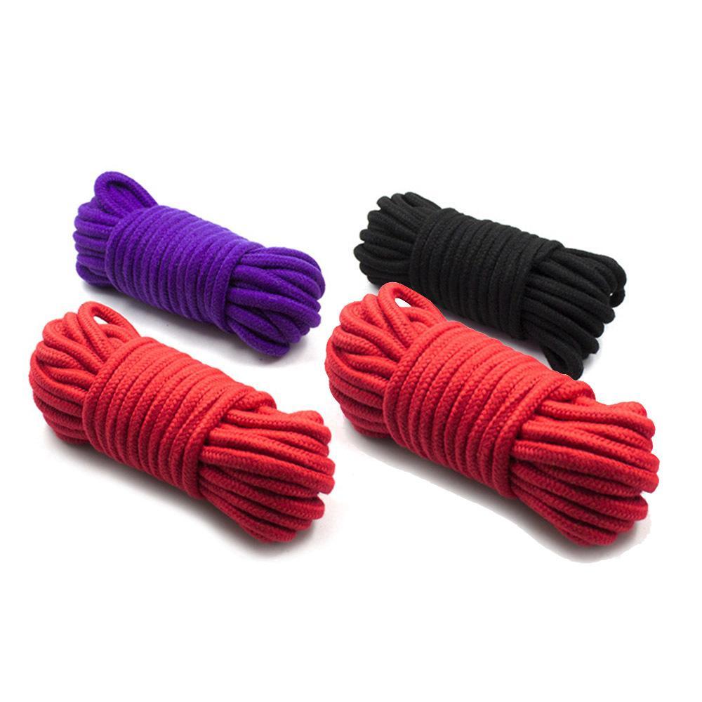 커플을위한 10M Thicken Sex Cotton Bondage 구속 로프 슬레이어 롤 플레잉 완구 성인 게임 제품 Shibari Hogtie Fetish Harnes S1017