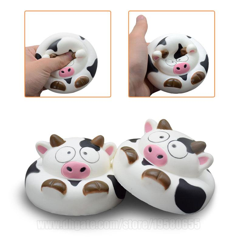Squishy Bun Milk Cow Squishies Jumbo Slow Rising Toy