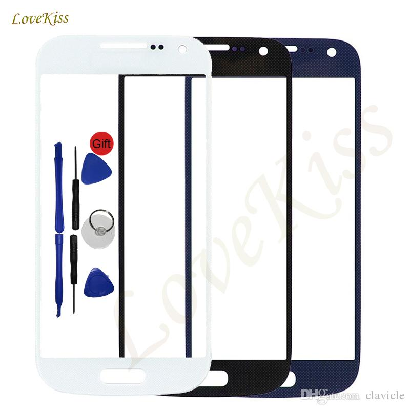 "4.3"" Touch Screen Front Glass For Samsung Galaxy S4 Mini i9190 i9195 i9192 Touchscreen Outer Lens Cover Replacement Not LCD"