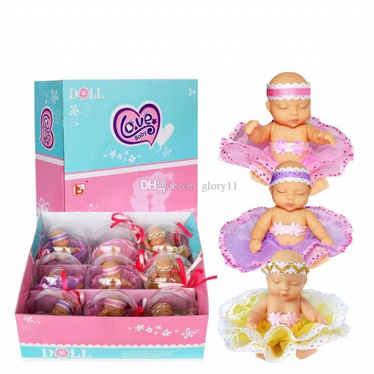 crystal love baby gril doll clothing can be replaced toy surpise baby kid fun gift for children kid novelty games