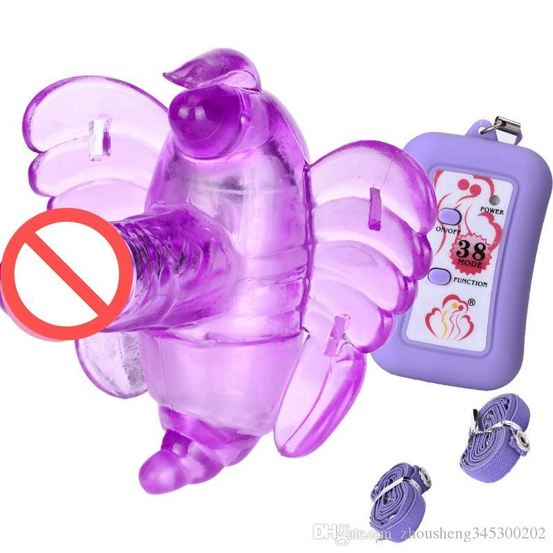 i nuovi giocattoli del sesso delle donne di arrivo portano il vibratore senza fili del massager della farfalla 38 modi con la cinghia Giocattoli adulti del sesso trasporto libero