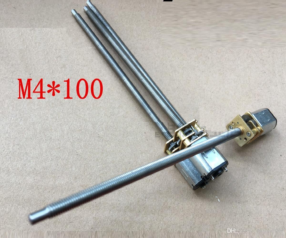 2PCS N20 M4 * 100mm 그레이트 나사 기어 모터 마이크로 스레드 모터 DIY 소형 DC 모터 100mm 길이 샤프트