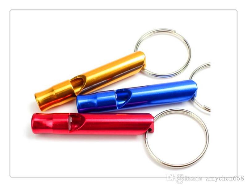 مصغرة سبائك الألومنيوم صافرة كيرينغ المفاتيح للخارجية الطوارئ بقاء السلامة الرياضة التخييم الصيد لون عشوائي