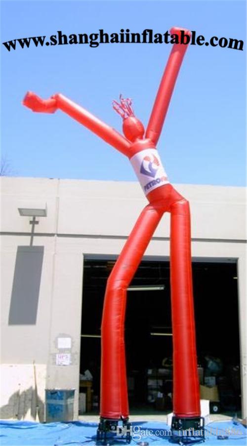 Bailarín de aire inflable del aire del hombre del tubo de aire de la publicidad de encargo en venta
