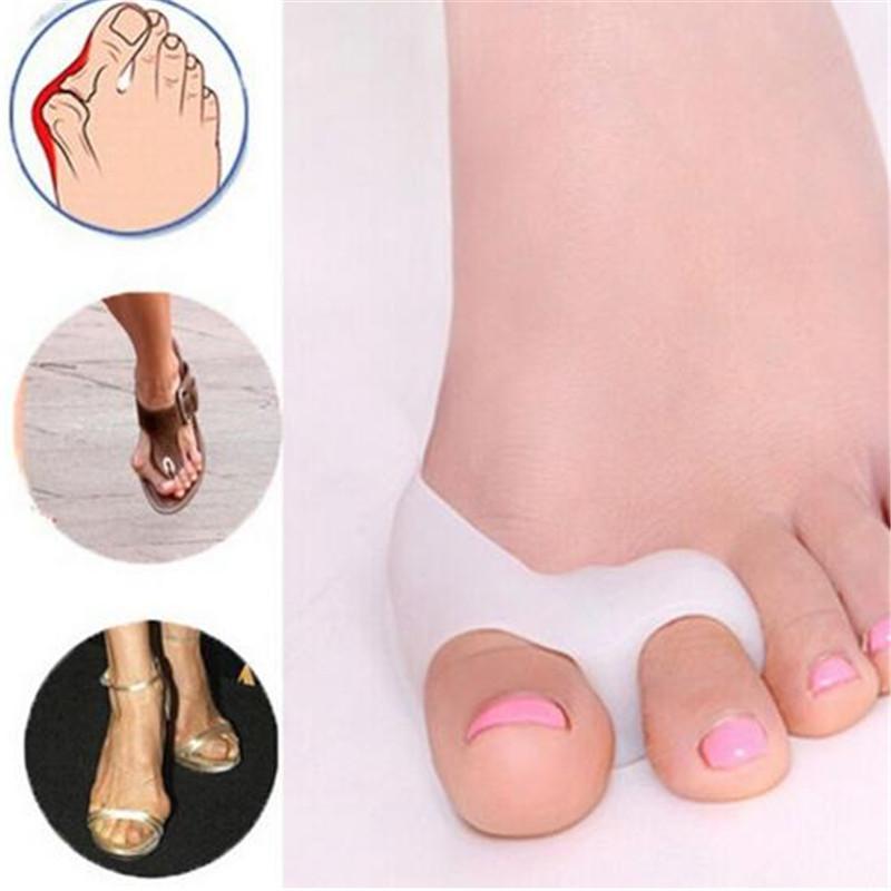 2PCS=1Pair Gel Foot Care Tool Bunion Corrector Bone Big Toe Protector Hallux Valgus Straightener Toe Spreader Pedicure free shipping