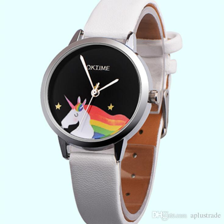 Мода мультфильм loverly дети смотреть 2018 оптовые дети мальчики девочки студенты простой подарок партии кожа кварцевые наручные часы