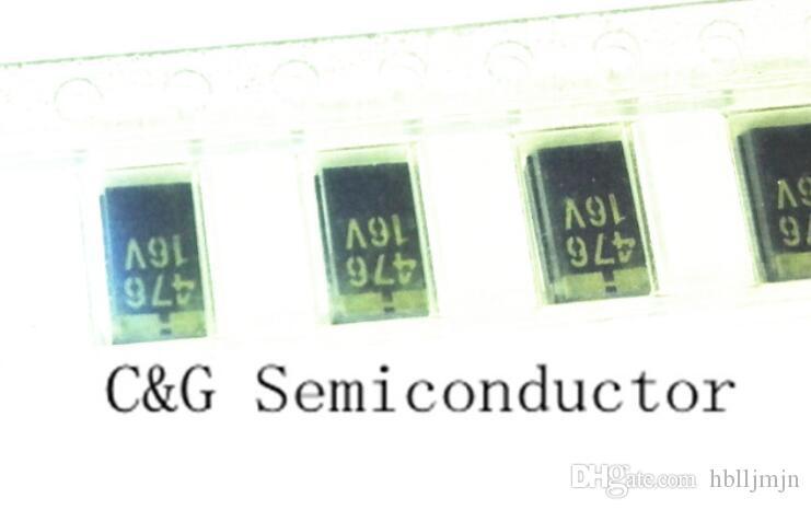 10 unids SMD 47UF 6032 16V 47UF C tipo tantalio capacitor 16V