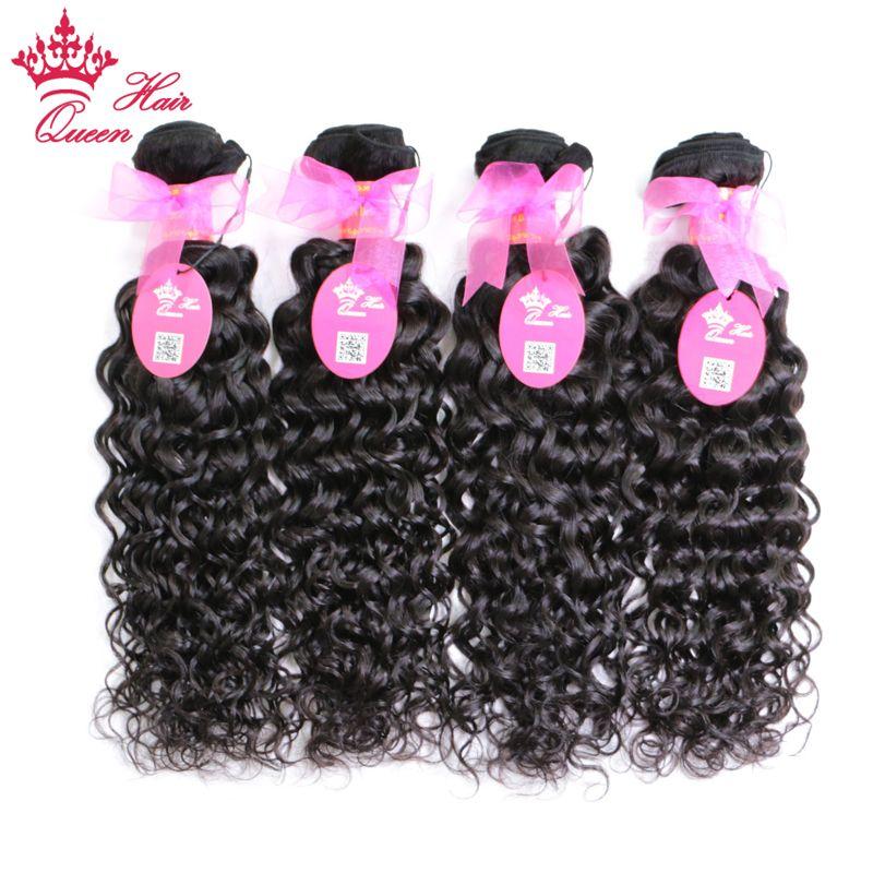 "Queen Hair Mix Longitud 4 unids / lote 10 ""-28"" 100% Pelo Virginal Brasileño Onda Natural Onda de Agua Tejido de Tejido Humano"