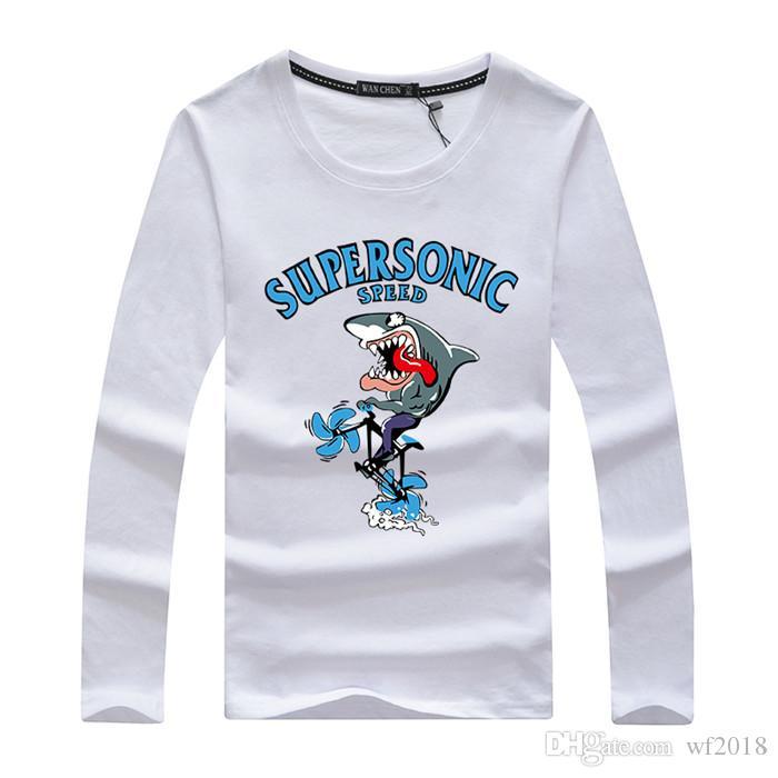 Классический мужчины футболка с длинным рукавом o шеи мужская футболка тройники топы мужская Марка футболка плюс размер M-5XL кофты