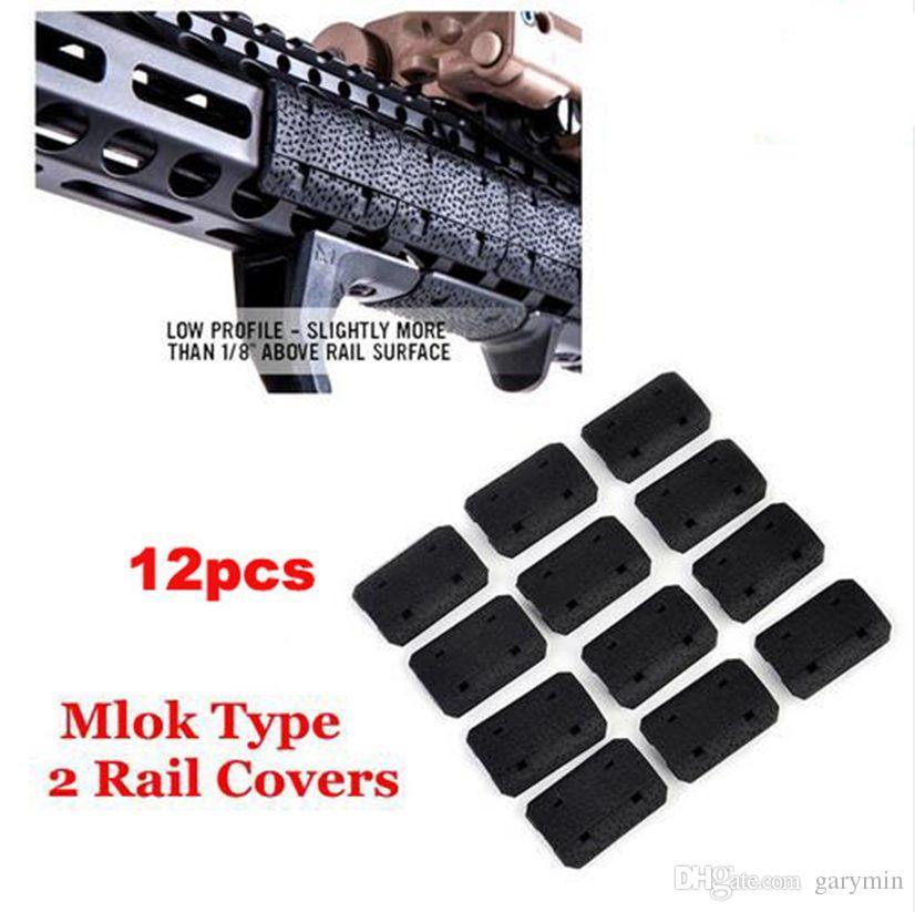 Taktische Mlok Typ 2 Schiene Abdeckungen eMag Pul TYP 2 M lok SLOT SYSTEM Schienenplatte 12 Stücke Für Outdoor Jagd Montieren