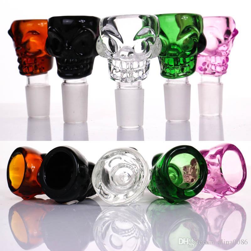 New design Skull glass bowl for glass smoking bongs heavy bowls Manufacturer G.O.G for 14mm bowl 18mm