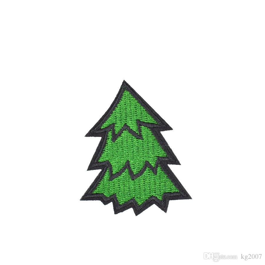 10PCS Diy Green Tree Fabric Badge Apparel Patches for Applique Cute Patch Iron Applique Garment Patch for Clothes Sew Embroidery Accessories
