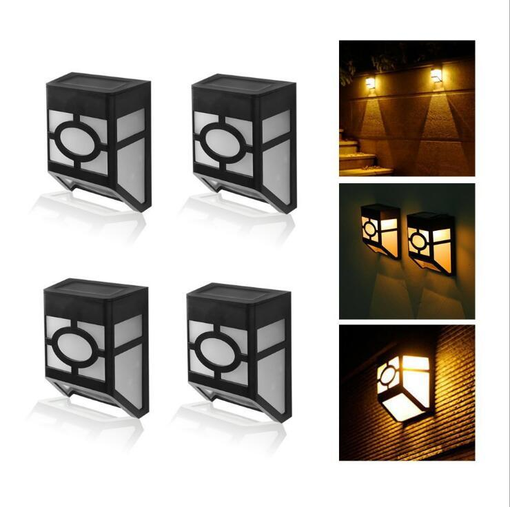Solar Powered Path Wall Mount luz LED Outdoor Jardim Paisagem Cerca Waterproof Quintal Lamp exterior Gadgets OOA5149