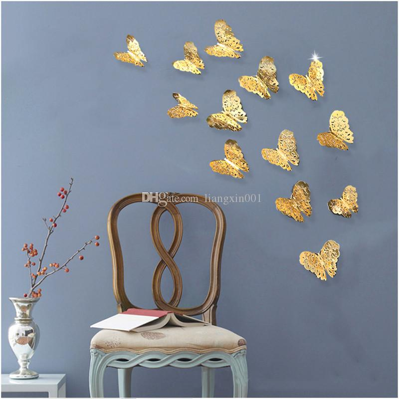3d Pvc Wall Stickers Butterflies Hollow Diy Home Decor Poster Kids Rooms Wall Decoration Party Wedding Decor Decoration Items For Birthday Decoration Items For Party From Liangxin001 2 37 Dhgate Com