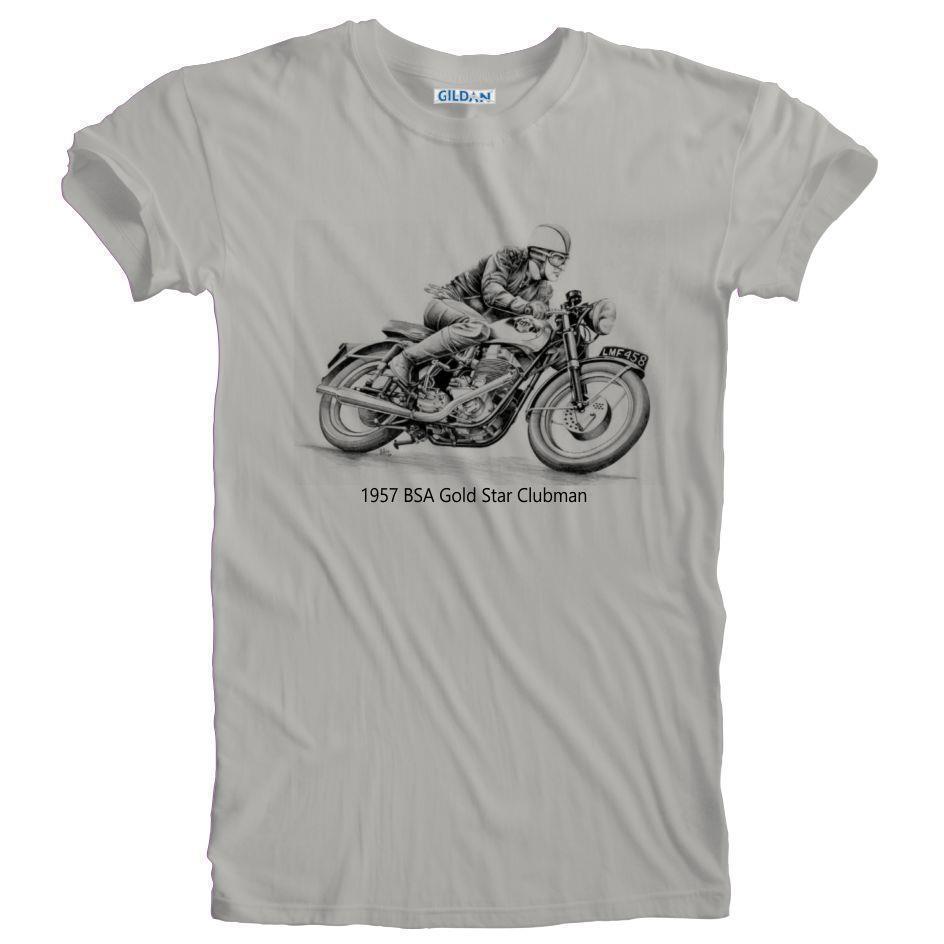 BSA Vintage Motorcycles Black Motorbike Official Tee T-Shirt Mens