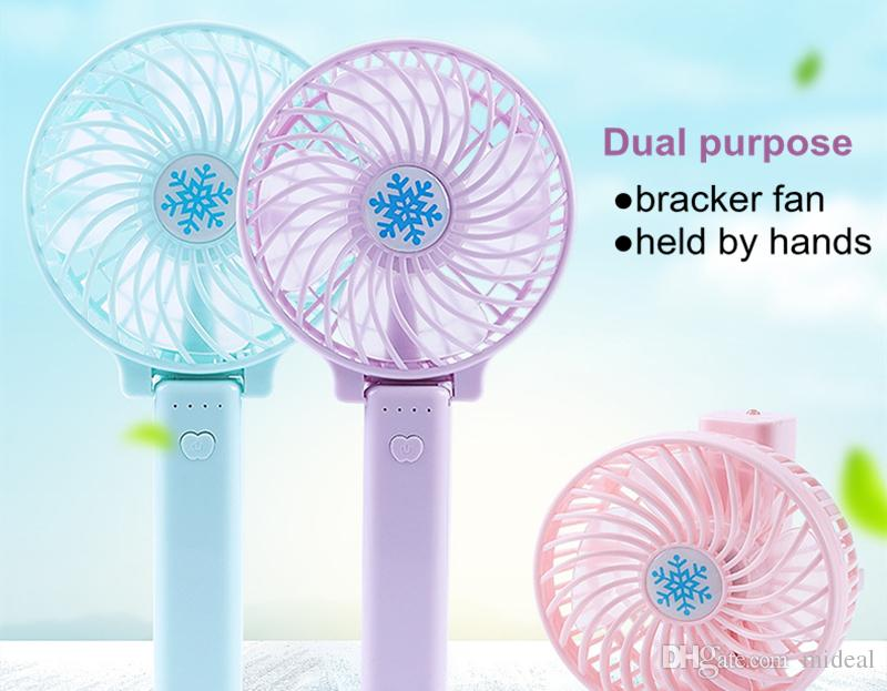Beautiful Design Handy Usb Fan Foldable Handle Mini Charging Electric Fans Snowflake Handheld Portable For Home Office