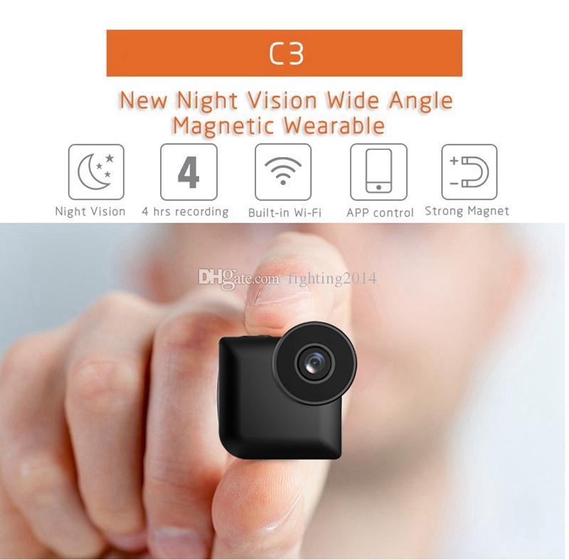 C3 Deportes mini cámara de WiFi del IP del P2P cámara HD 720P de visión nocturna Grabación de vídeo Micro Camara de detección de movimiento DVR DV