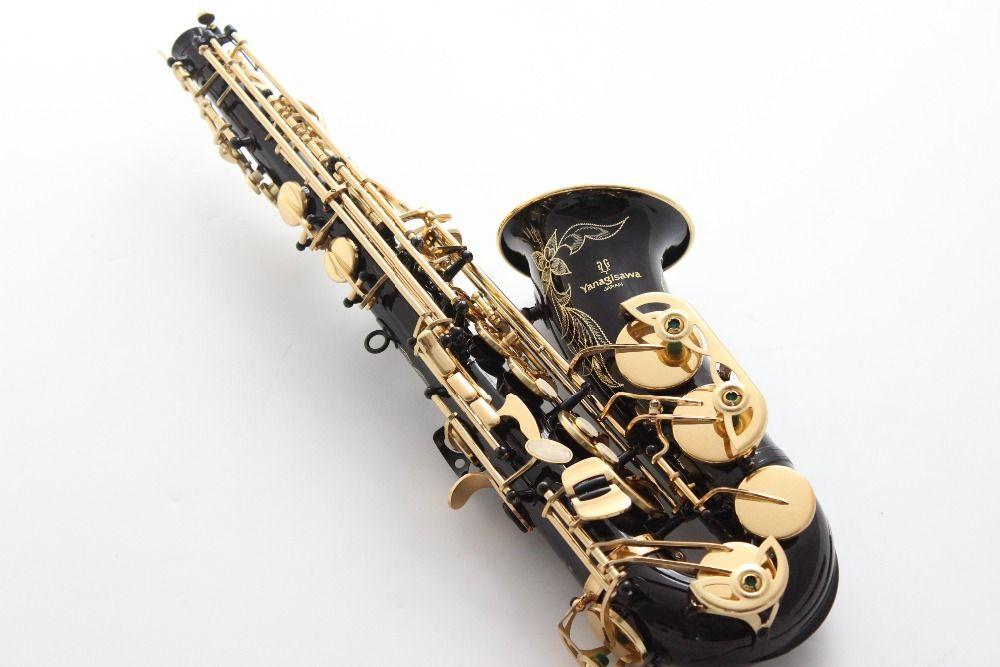 Brand New YANAGISAWA Sassofono contralto A-991 A-WO10 Laccato oro Sax Bocchino professionale Patches Pastiglie Ance Bend Neck