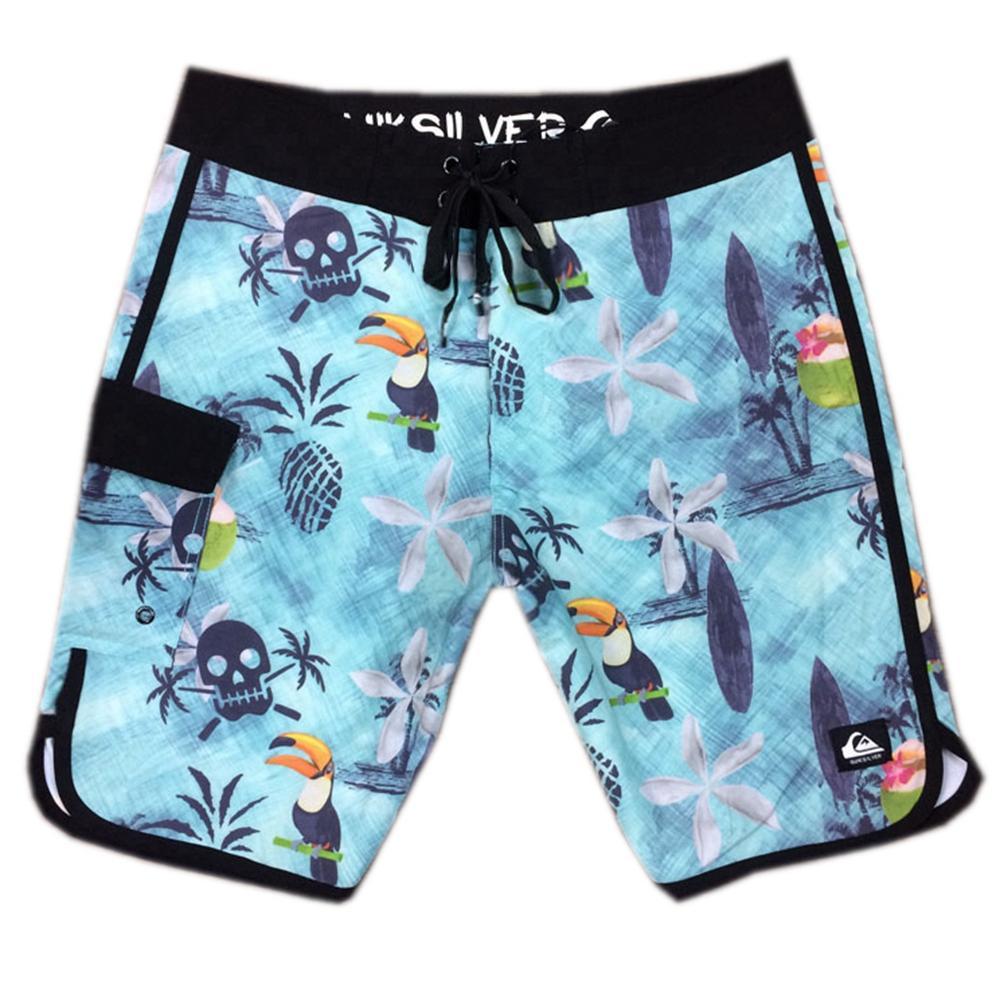 High Quality Elastic Fabric Casual Shorts Mens Swimwear Swimming Trunks Swim Pants Quick Dry Surf Pants Relaxed Bermudas Shorts Board Shorts