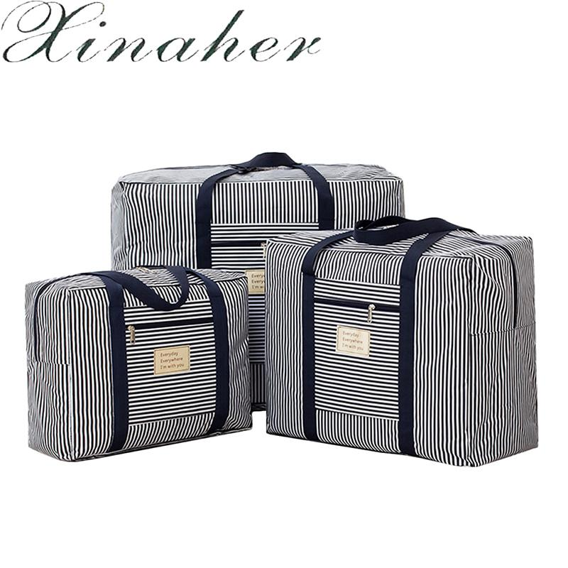 XINAHER Quilt Storage Bags Oxford Luggage Bags Home Storage Organiser Washable Wardrobe Clothes Storing