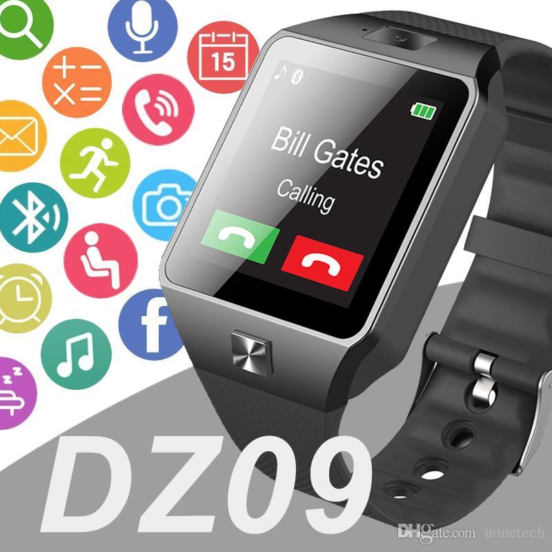 DZ09 inteligente reloj GT08 U8 A1 Wrisbrand elegante androide SIM reloj teléfono móvil inteligente puede registrar el estado de sueño SmartWatch