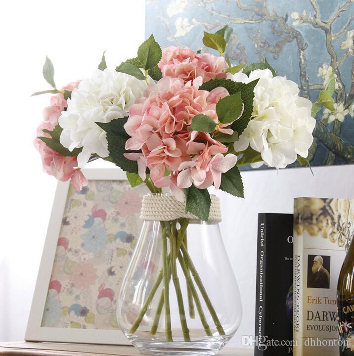 Hydrangea pincushion Artificial Flowers silk Flowers hydrangea 47CM 18.5INCH Home decorations for Wedding Party or Birthday SF017