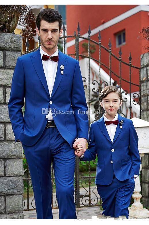 Style Classique Deux boutons bleu royal de mariage smokings marié pointe Lapel Groomsmen Mens Blazer dîner costumes (veste + pantalon + Bow Tie) NO: 1618