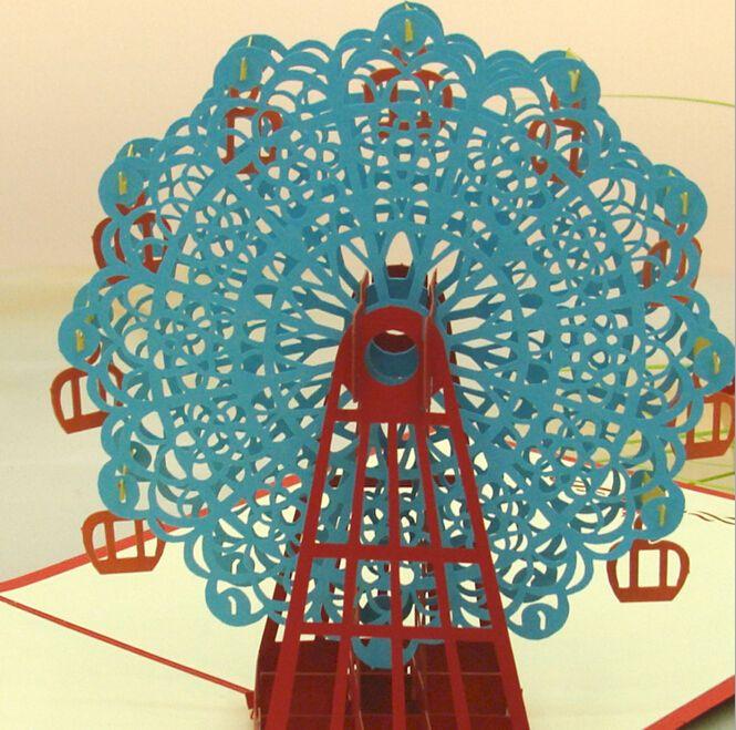 Remarkable Ferris Wheel 3D Popup Greeting Card Birthday Card Birthday Card Funny Birthday Cards Online Fluifree Goldxyz