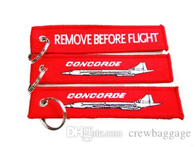 Concorde Remove Before Flight embroidered Aviation keyring//fob//luggage tag UK