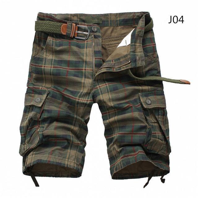 Uomini Shorts Moda Plaid Beach Shorts Mens casuali del camuffamento di Camo Shorts militare pantaloni di scarsità di Maschio Bermuda Cargo Tuta Dimensione 30-38