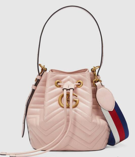 b9c0f358a Marmont Quilted Leather Bucket Bag 476674 Women Fashion Shows ...