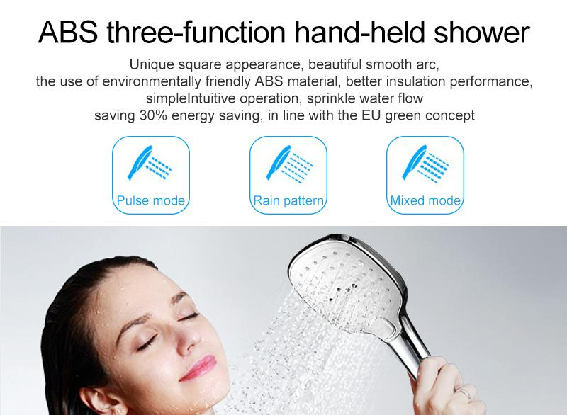 In Wall Exposed Touch Digital Shower Bath 3 Function Bathroom Shower Set Smart Intelligent Thermostat Waterfall Rain Shower (13)